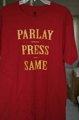 Parlay Press Same (Red shirt), size large