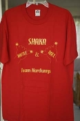 Shaka Rattle & Roll (Red shirt), size Large